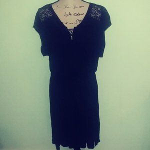 NICOLE MILLER BLACK DRESS COVER UP SIZE 2X